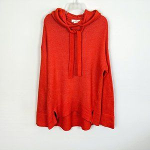 H&M L.O.G.G. Oversized Hooded Bright Red Sweater